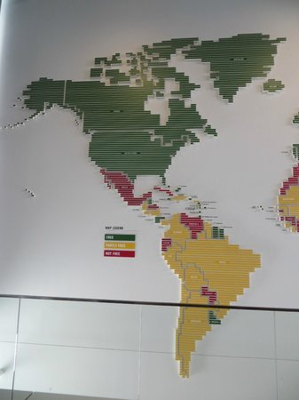 Newseum: Map of countries based on freedom of press
