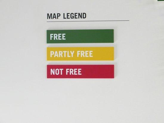 Музей журналистики и новостей: Map legend