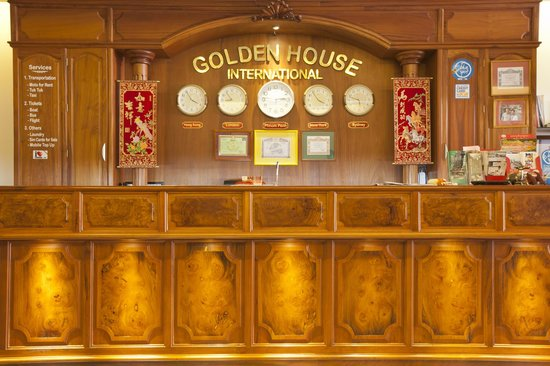 Golden House International: Receptionist table