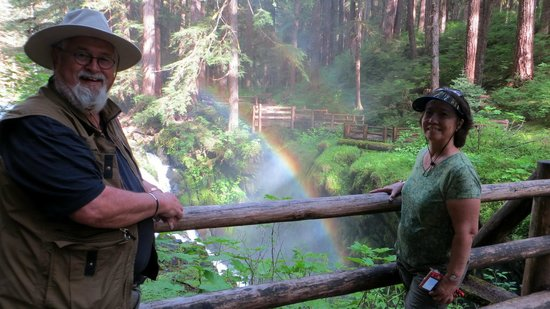 Sol Duc Hot Springs Resort : Sol Duc Falls and the Rainbow