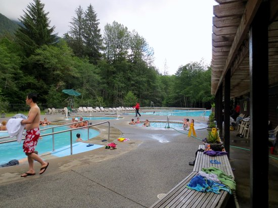 Sol Duc Hot Springs Resort : The hot spring pools