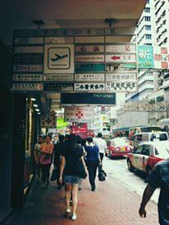 Check Inn HK : just on the main road