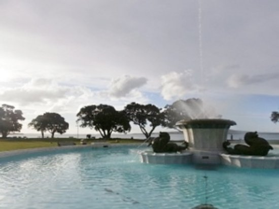 St. Helier's Bay: The Fountain that Lights up at night