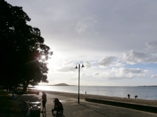 St. Helier's Bay: St Heliers beach one area of the strip..