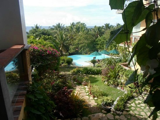 Amarela Resort: the pool, viewed from the 2nd floor