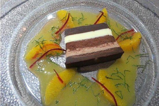 Auberge de l'Ile: Gateau aux quatre chocolats