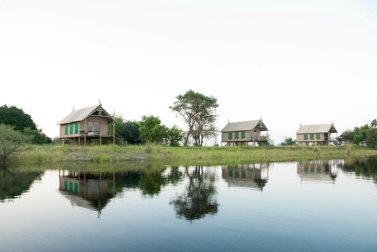 Chobe River Camp: The tented chalets along the river