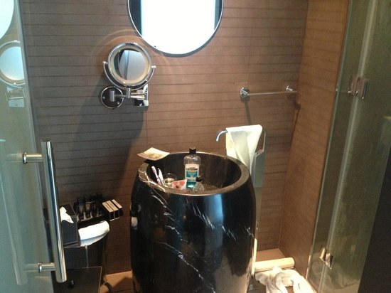 Melia Dubai Hotel: Sink, counter space?