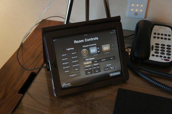 Fairmont Pacific Rim: ipad room controls