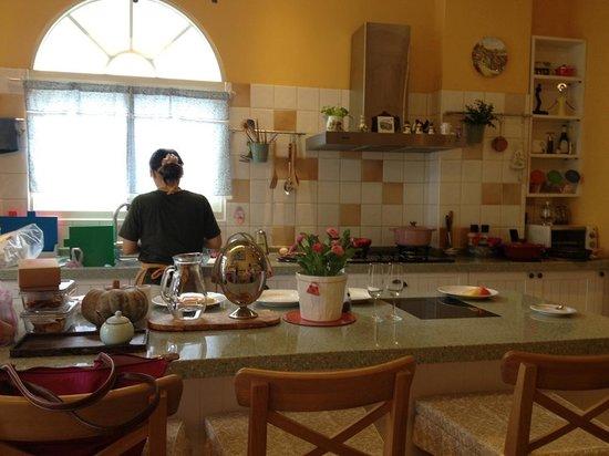Ravello B&B: Vivi is cooking =)