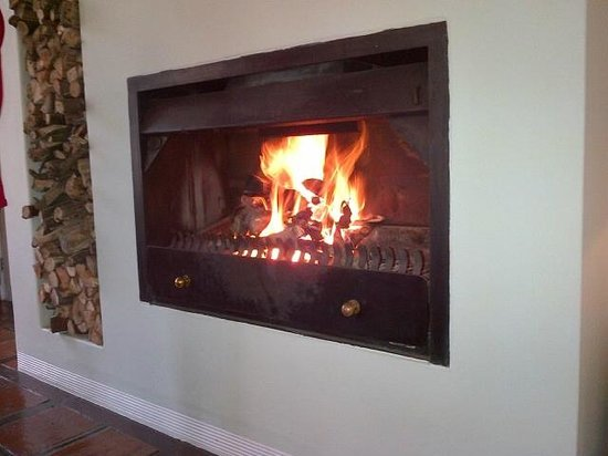 Holden Manz Country House: Fireplace in the Lounge
