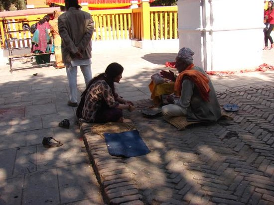 Budhanilkantha : Consulting Priests...