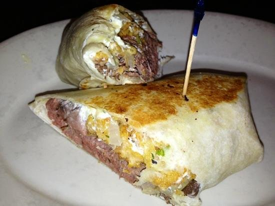 Forrey Grill: Boursin beef wrap