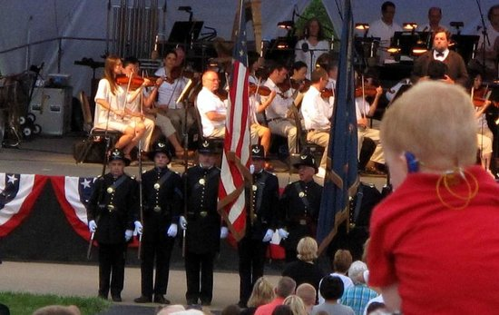 Conner Prairie Interactive History Park: Marched down to the Symphony