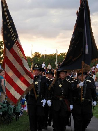 Conner Prairie Interactive History Park: Marched around