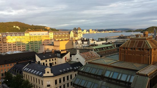 Thon Hotel Oslo Panorama: View from Room 1101 at 10:00pm on June 29.