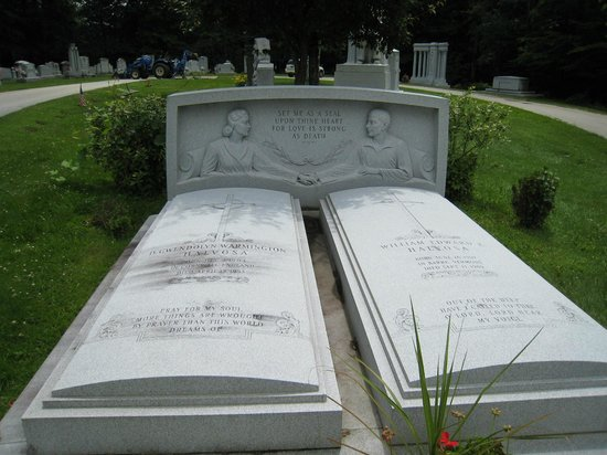 """Hope Cemetery: This headstone was my favorite. """" Together Forever"""""""