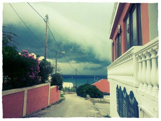 Tsaros Apartments: A storm blows in!