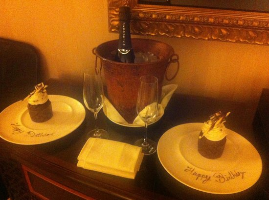 Fairmont Grand Del Mar: Thanks for the birthday treats!