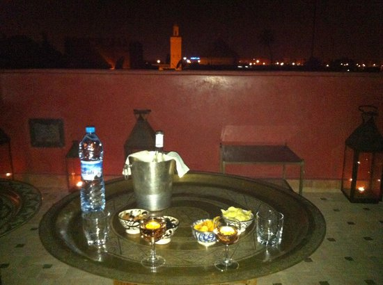 P'tit Habibi: wine on the upper terrace