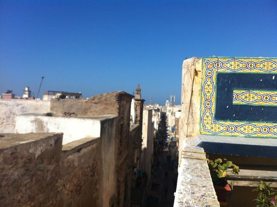 Riad Lunetoile: View from our terrace (looking at the town)