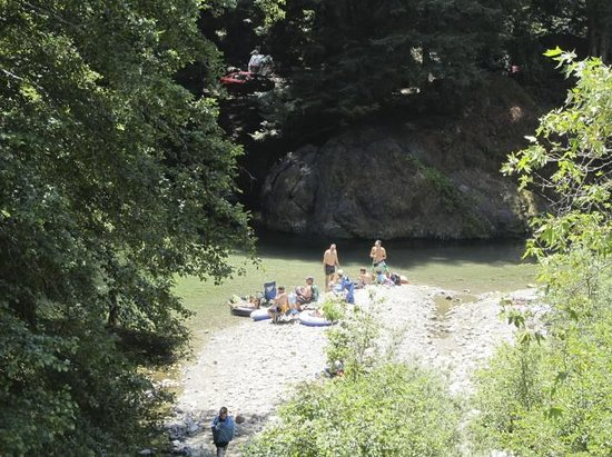 Big Sur Campground & Cabins: River and swimming hole