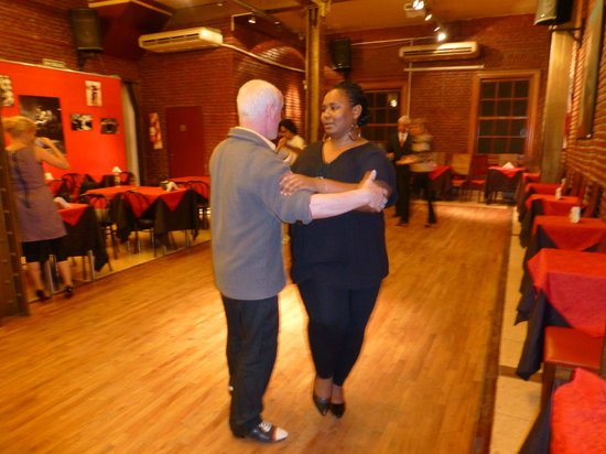 Tango Classes with Lucia & Gerry: My friend having a lesson