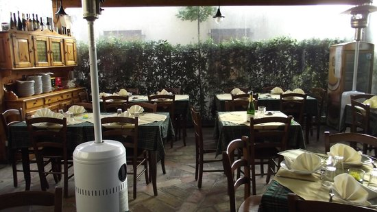 Bed and Breakfast Montelupone: Zona para comer al aire libre