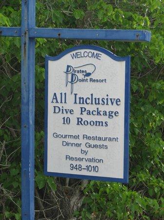 Pirates Point Resort: PPR sign