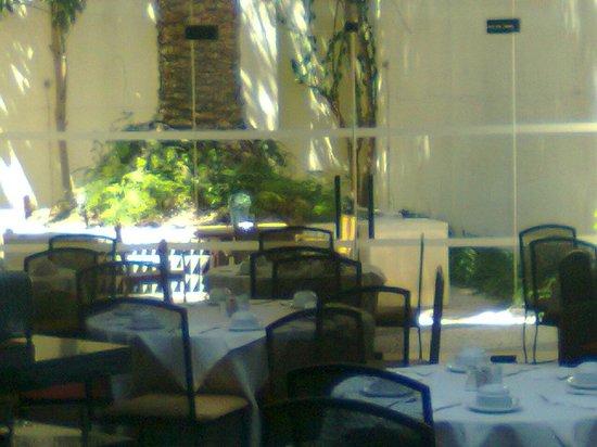 SANA Executive Hotel: Vista giardino per breakfast