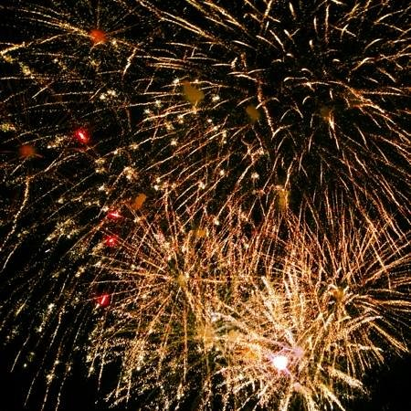 Lititz Springs Park: viewing fireworks right outside Lititz Spring Park