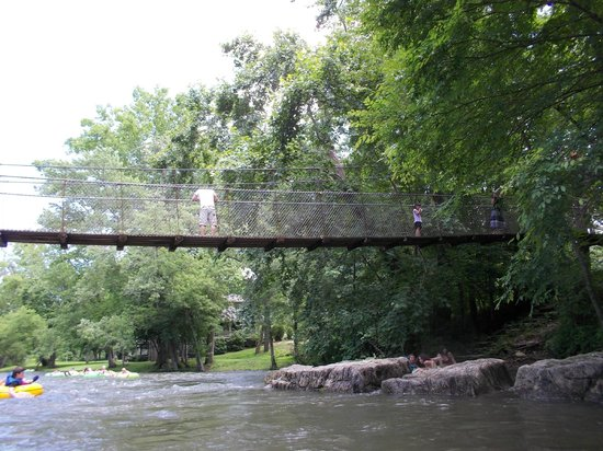 Dark Island Swinging Bridge: Townsend swinging bridge