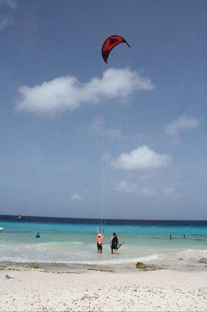 Bonaire Kiteschool : Starting