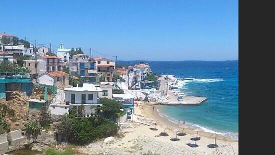 Galini Pension : seaview from Gallini