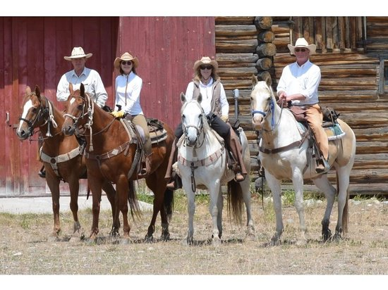 R Lazy S Ranch: Taken on all day ride to the Bar B C in Teton National Park