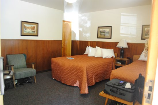 Swiftcurrent Motor Inn and Cabins: view from the door