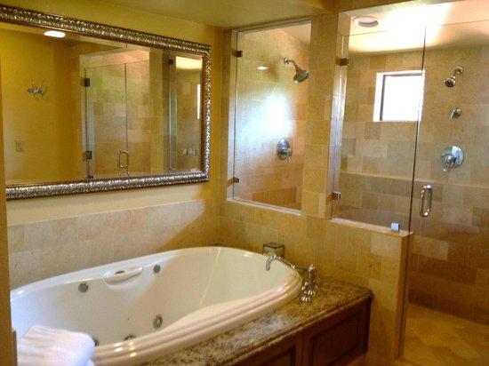 napa valley lodge 2 person soaking tub and walkin shower