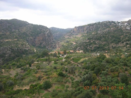 Enagron Ecotourism Village: View of Enagron and the gorge from the nearby Byzantine chapel