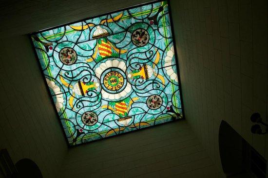 Hotel Florida: techo de vitral