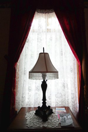 The Grand Victorian B&B: window in our room