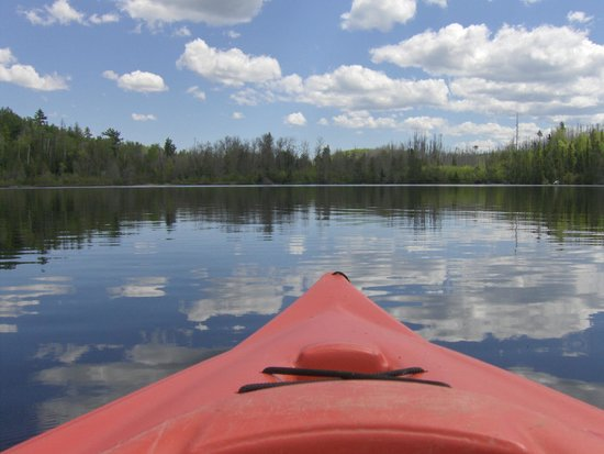 Loon Lake Lodge: view of Loon Lake from a kayak
