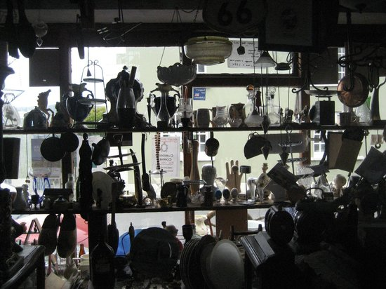 The Old Courthouse: Shop window from inside