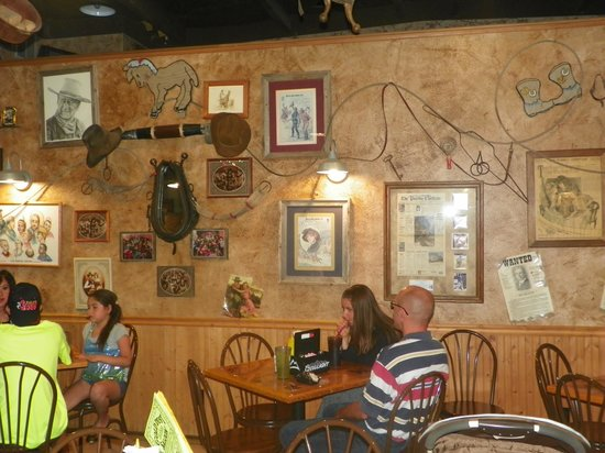 Gold Dust Saloon: Interesting things were hung on the wall