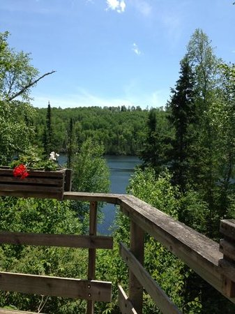 Bearskin Lodge: View from the lodge deck.