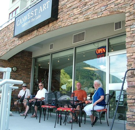 Harrison Lake & Hot Springs: Canwest Art- Gallery on the Lake-  buy some Art, or relax on their patio with some coffee & good