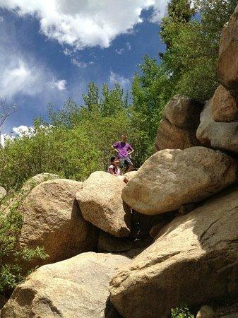 Alluvial Fan : Kids loved climbing the boulders!
