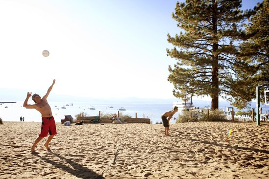 Lake Tahoe (California), CA: Volleyball on the Beach at Tahoe South