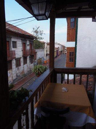Abadia Colonial: Balcón del desayunador