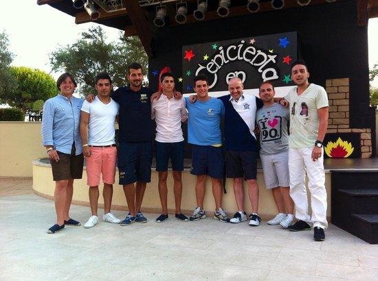 Garden Playanatural Hotel & Spa: Con Victor y Carlos, los chicos de animacion. Sois increibles...... Volveremos a vernos!!!!