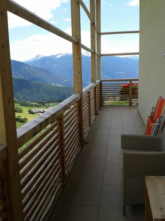 Hotel Gitschberg: Il balcone della stanza Pitzna